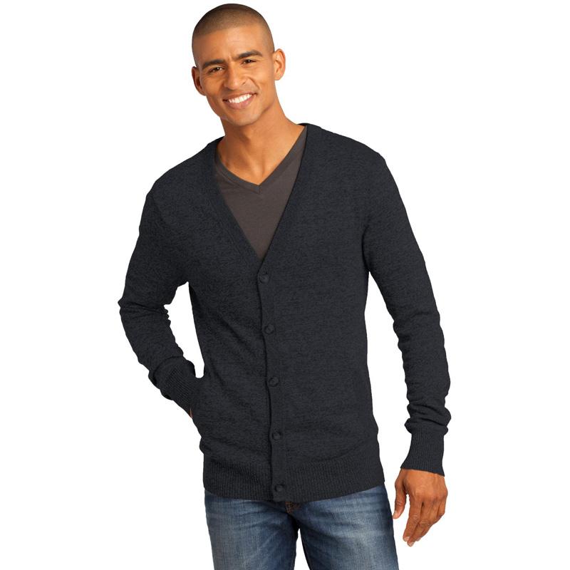 District Made ®  - Mens Cardigan Sweater. DM315