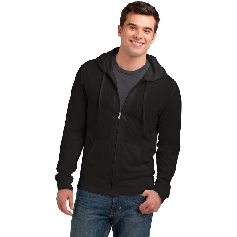 District ®  Young Mens Jersey Full-Zip Hoodie. DT1100