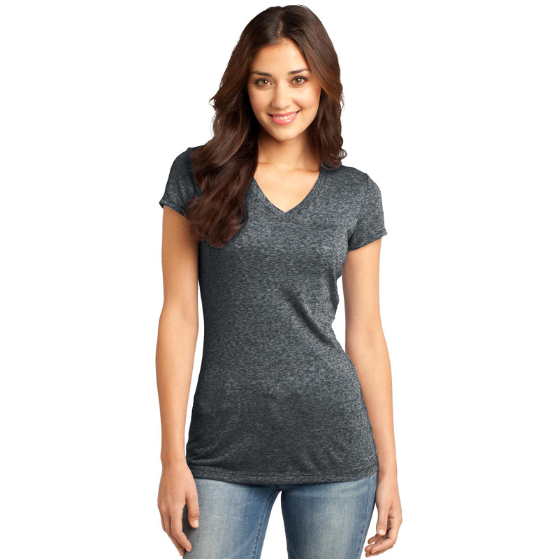 District ®  - Juniors Microburn ®  V-Neck Tee. DT261