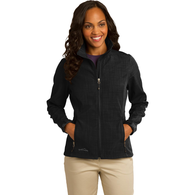 Eddie Bauer ®  Ladies Shaded Crosshatch Soft Shell Jacket. EB533