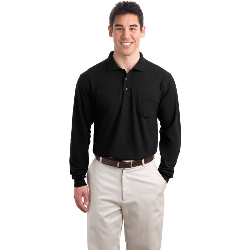 Port Authority ®  Long Sleeve Silk Touch™ Polo with Pocket.  K500LSP