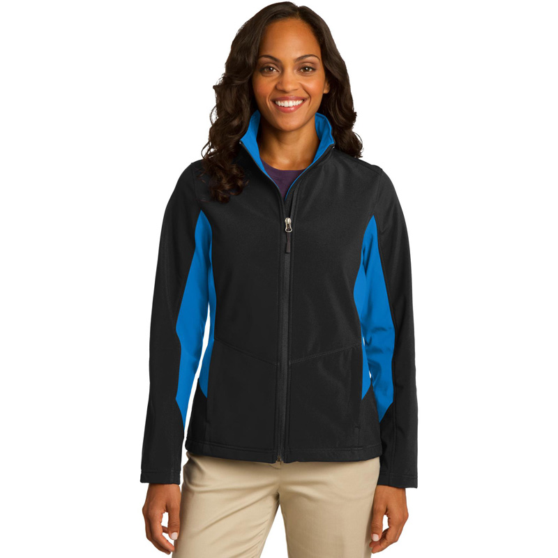 10 Year - Ladies' Port Authority Core Colorblock Soft Shell Jacket. L318
