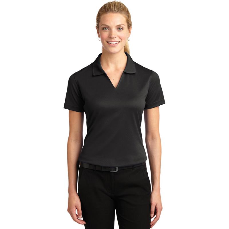 04 - Sport-Tek Ladies Dri-Mesh V-Neck Polo.  L469