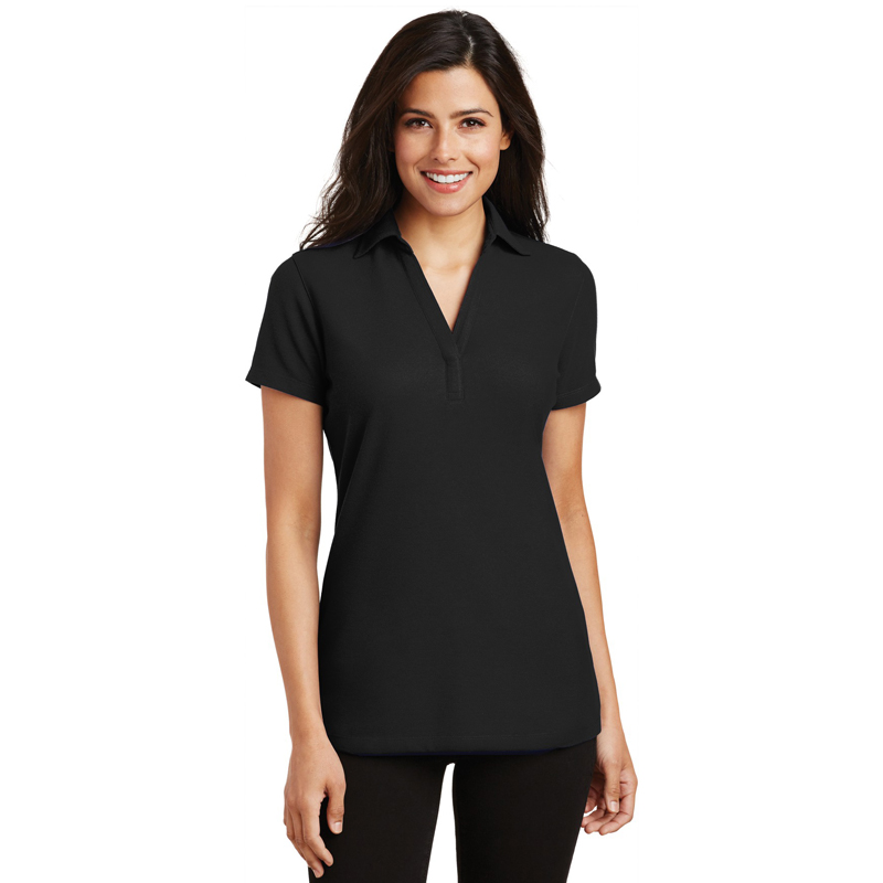 Port Authority ®  Ladies Silk Touch ™  Y-Neck Polo. L5001