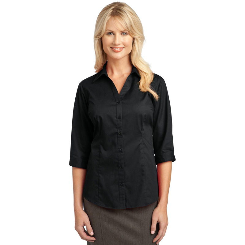 bc635a99 IMPROVED Port Authority ® Ladies 3/4-Sleeve Blouse.