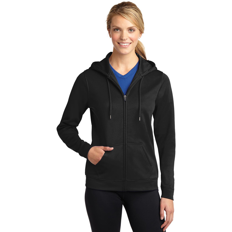 Sport-Tek ®  Ladies Sport-Wick ®  Fleece Full-Zip Hooded Jacket. LST238