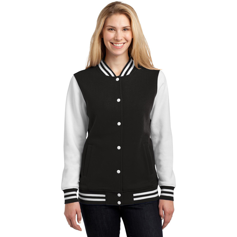 Sport-Tek ®  Ladies Fleece Letterman Jacket. LST270