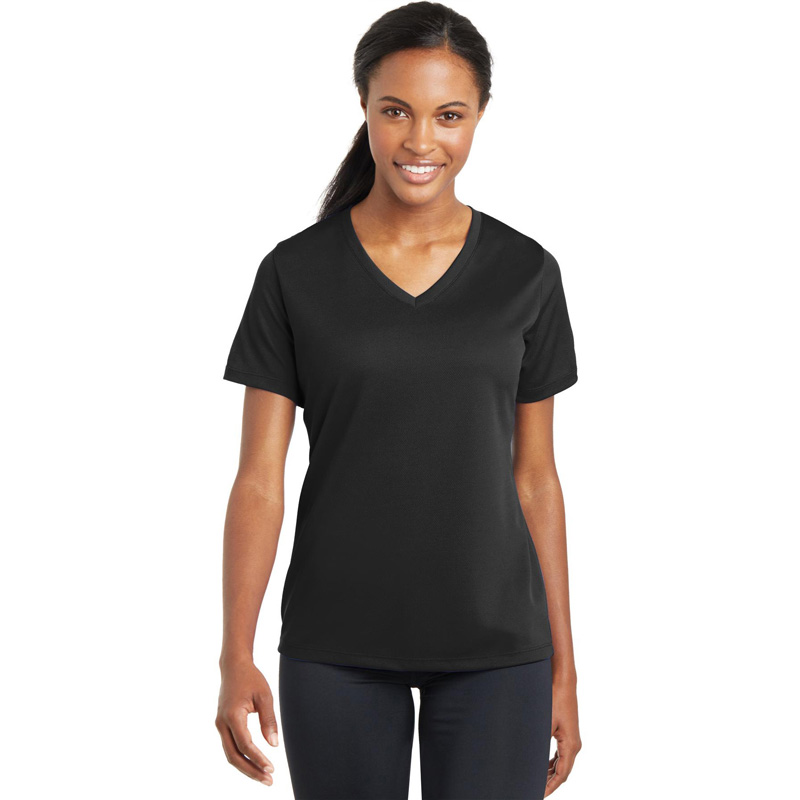 Sport-Tek ®  Ladies PosiCharge ®  RacerMesh ™  V-Neck Tee. LST340