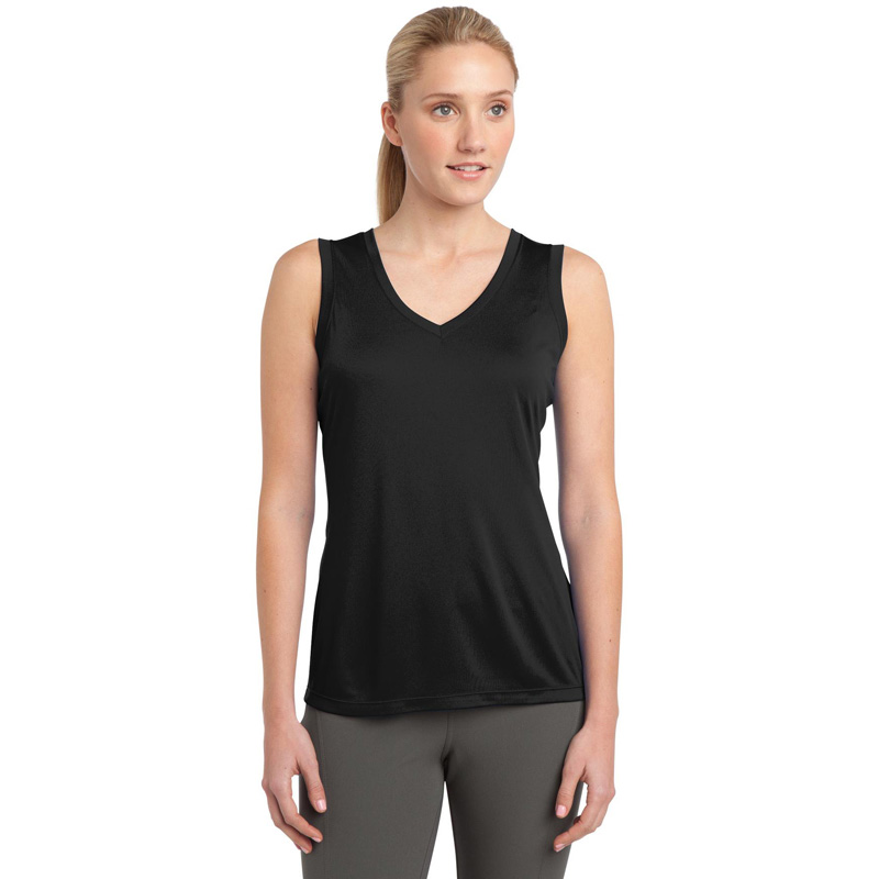 Sport-Tek ®  Ladies Sleeveless PosiCharge ®  Competitor™ V-Neck Tee. LST352