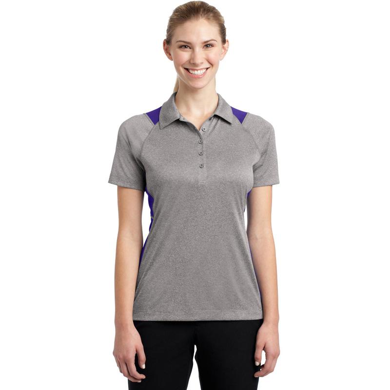 Sport-Tek ®  Ladies Heather Colorblock Contender ™  Polo. LST665