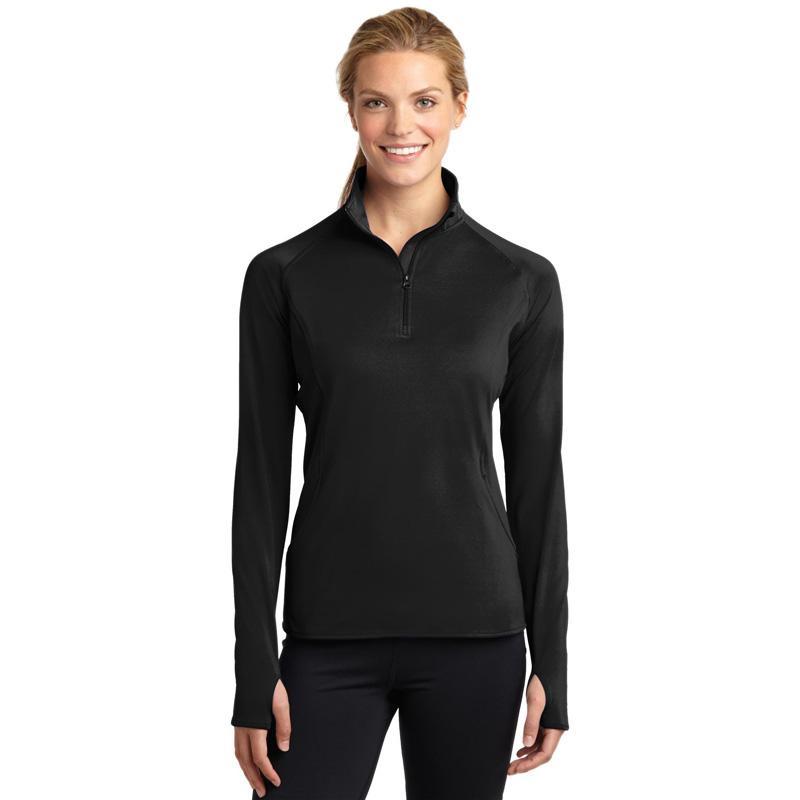 Sport-Tek ®  Ladies Sport-Wick ®  Stretch 1/2-Zip Pullover. LST850