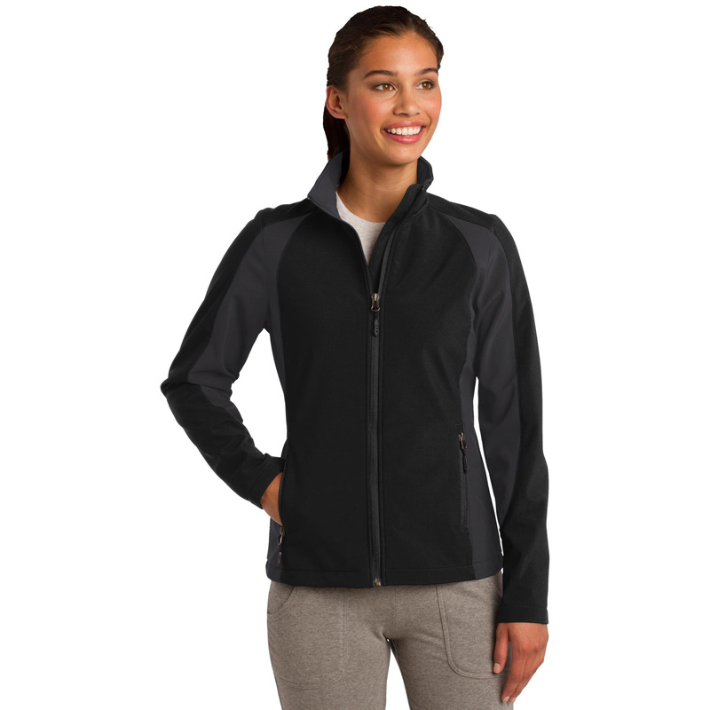 Sport-Tek ®  Ladies Colorblock Soft Shell Jacket. LST970