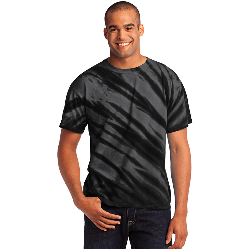 Port & Company ®  - Tiger Stripe Tie-Dye Tee. PC148
