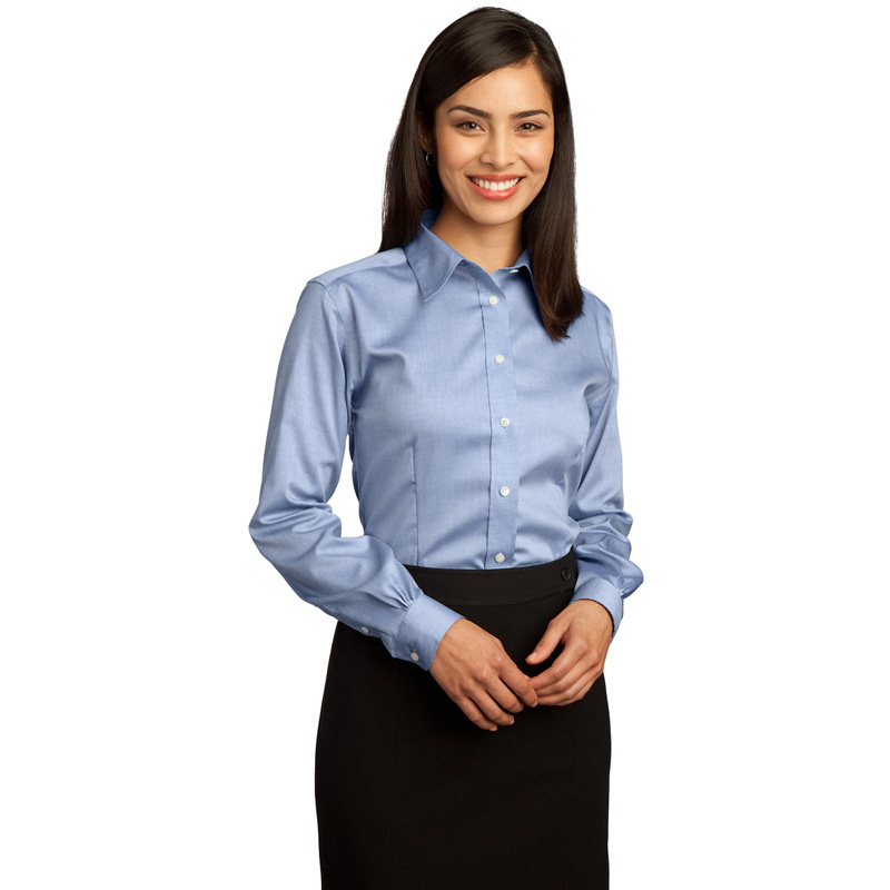Red House ®  - Ladies Non-Iron Pinpoint Oxford Shirt.  RH25