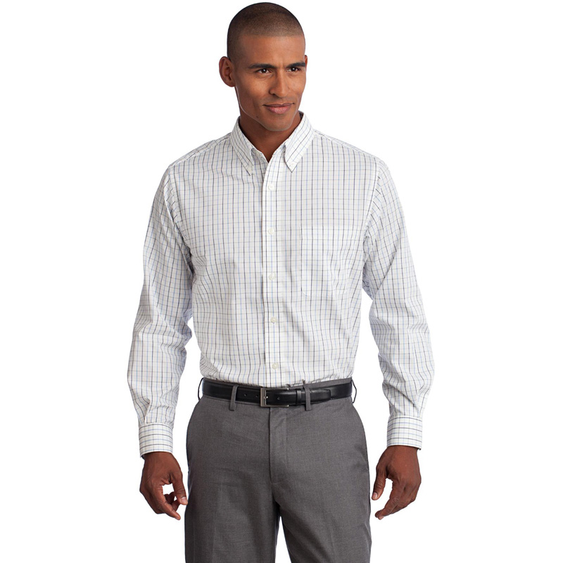 Port Authority ®  Tall Tattersall Easy Care Woven Shirt. TLS642