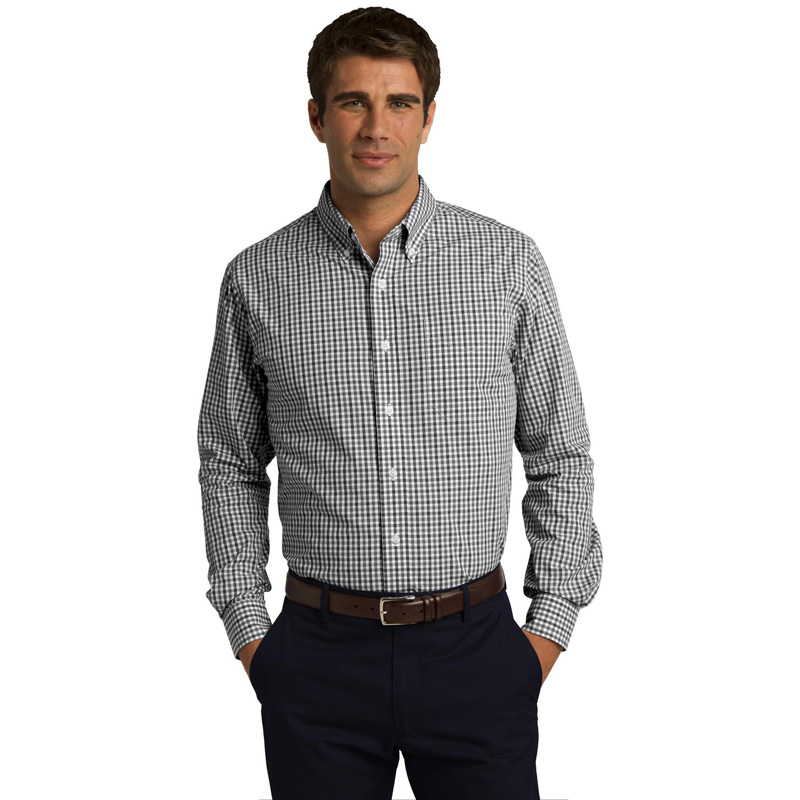 Port Authority ®  Long Sleeve Gingham Easy Care Shirt. S654