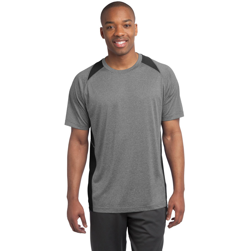 Sport-Tek ®  Heather Colorblock Contender ™  Tee. ST361