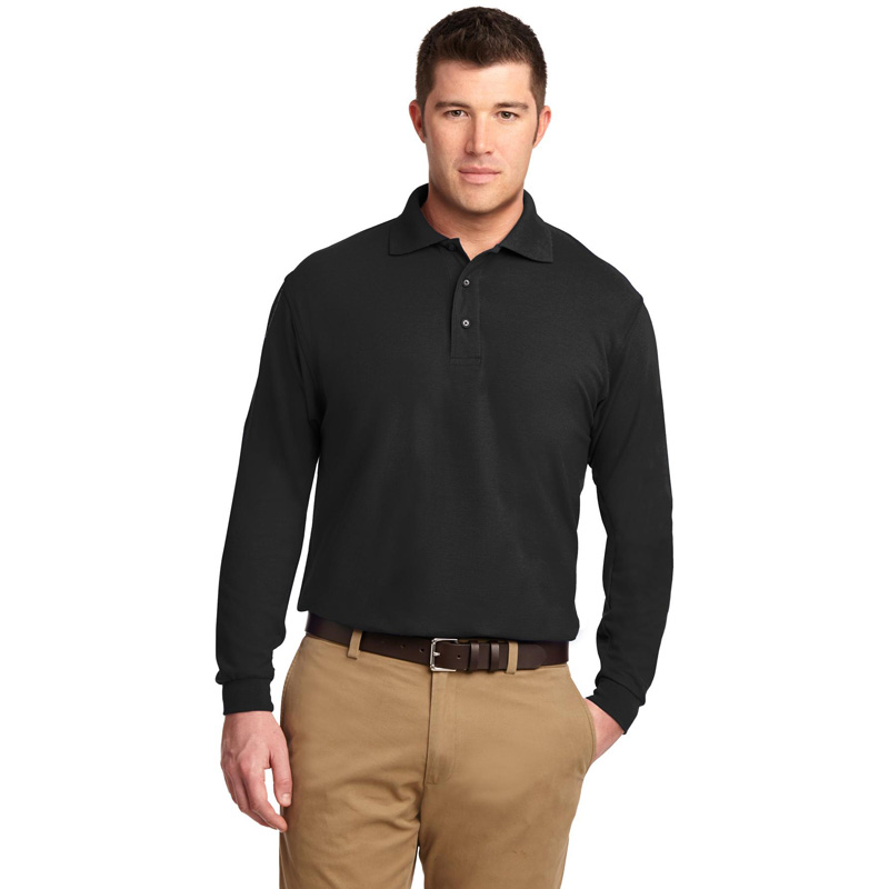Port Authority ®  Tall Silk Touch™ Long Sleeve Polo. TLK500LS
