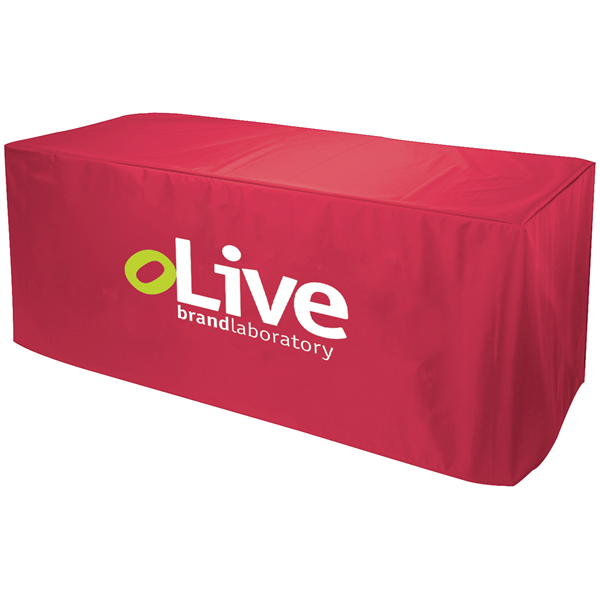 6' Decobrite Nylon Table Cover 3-Sided (2-Color Imprint)