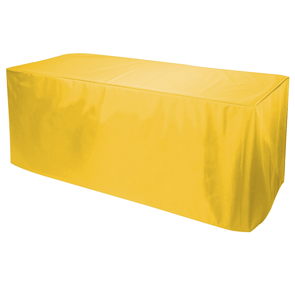 8' Decobrite Nylon Table Cover 3-Sided (Unimprinted)