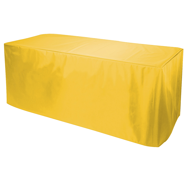 8' Decobrite Nylon Table Cover 4-Sided (Unimprinted)