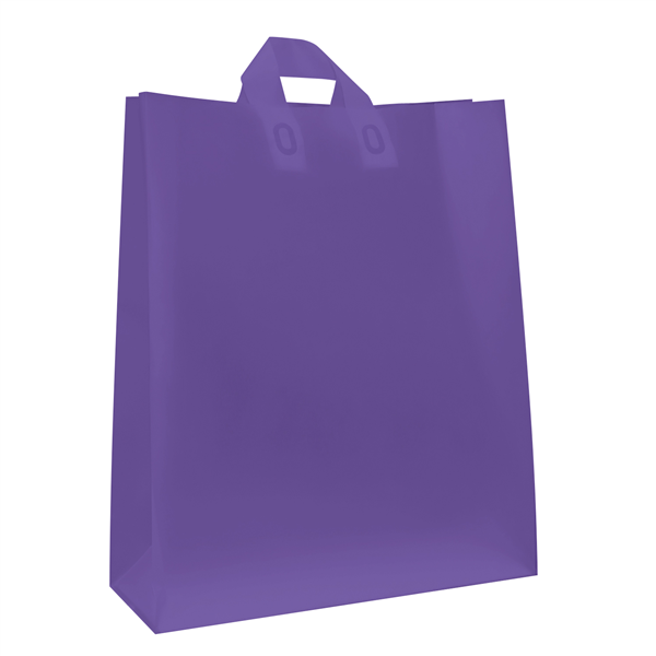 "Frosted Shopper 16""W x 6""D x 19""H (Unimprinted)"