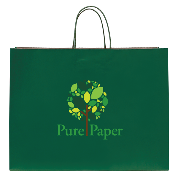 "Tinted Shopper 1-Color Hot Stamp 16""W x 6""D x 12""H (1-Sided)"