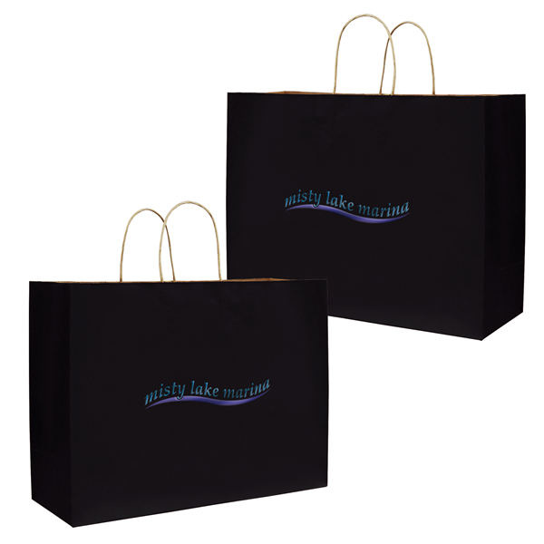 "Tinted Shopper 2-Color Hot Stamp 16""W x 6""D x 12""H (2-Sided)"