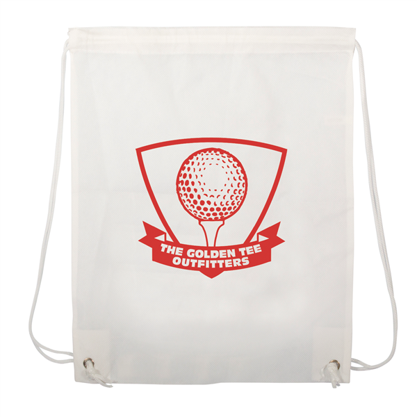 "Non-Woven Drawstring Backpack 1-Color Screen Print 13""w x 16""h (1-Sided)"