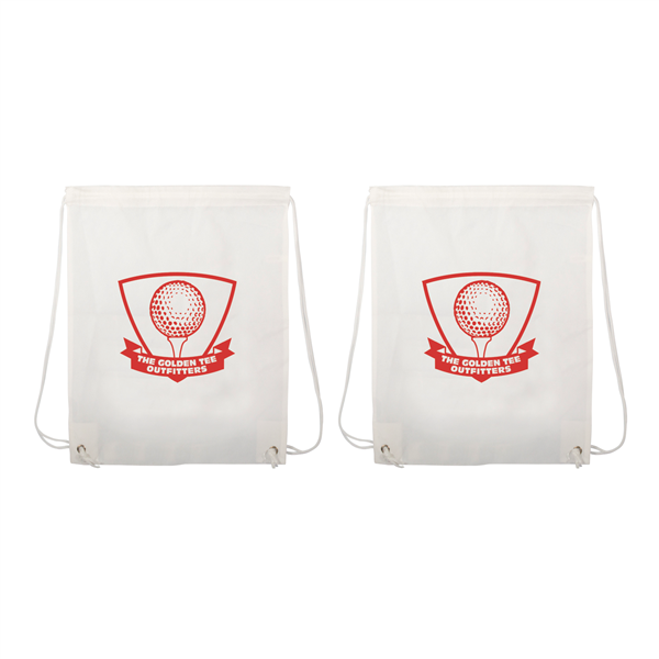 "Non-Woven Drawstring Backpacks 1-Color Screen Print 13""w x 16""h (2-Sided)"