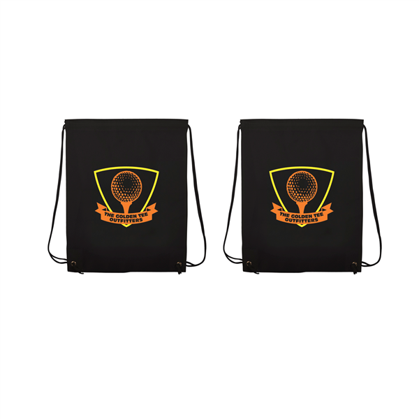 "Non-Woven Drawstring Backpacks 2-Color Screen Print 13""w x 16""h (2-Sided)"