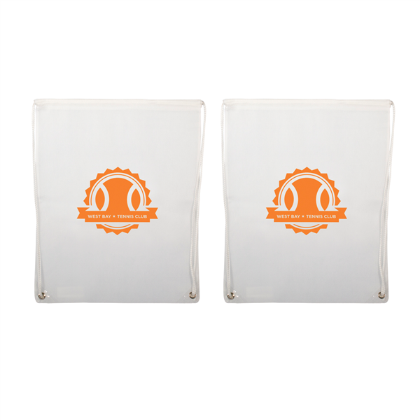 "Non-Woven Drawstring Backpacks 1-Color Screen Print 16""w x 20""h (2-Sided)"