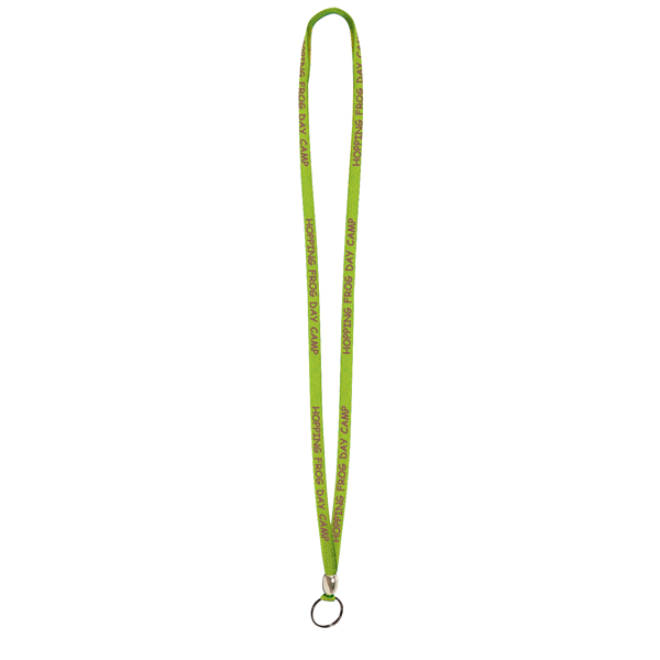 "3/8"" Lanyard with Split Ring and Bead (1-Color Imprint)"