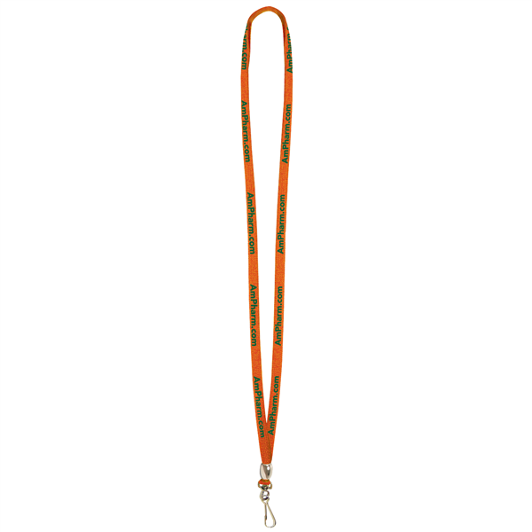 "3/8"" Lanyard with Swivel Hook and Bead (1-Color Imprint)"