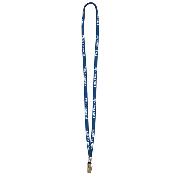 "3/8"" Lanyard with Bulldog Clip and Bead (1-Color Imprint)"