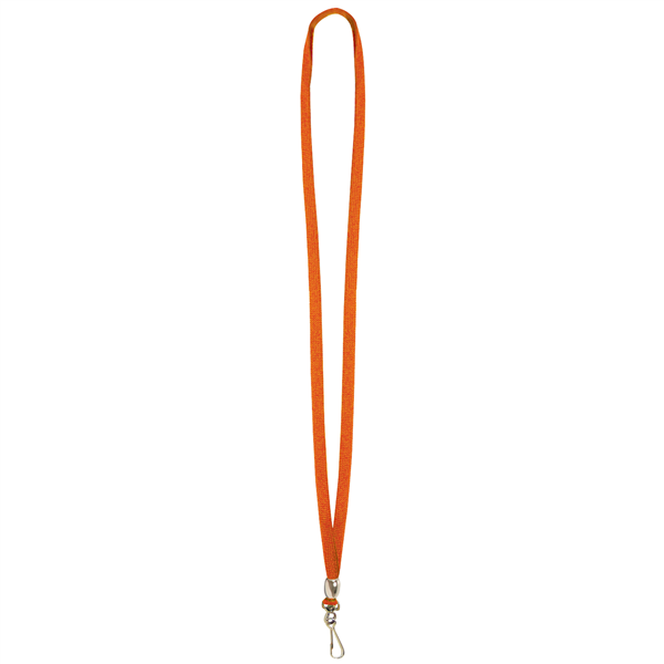 "3/8"" Lanyard with Swivel Hook and Bead (Blank)"