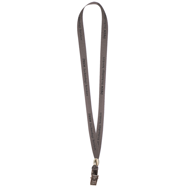 "5/8"" Lanyard with Bulldog Clip and Bead (1-Color Imprint)"