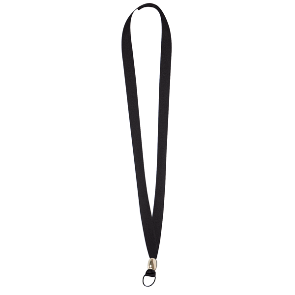 "5/8"" Lanyard with Velcro Breakaway, Split Ring and Bead (Blank)"