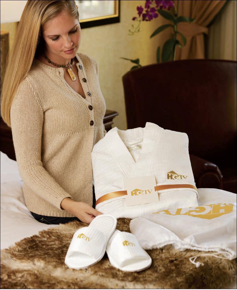 Cabana Bay Waffle Weave Robe, Slippers and Card Gift Set