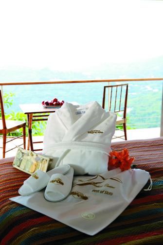 Cabana Bay Velour Robe, Slippers and Travel Gift Set