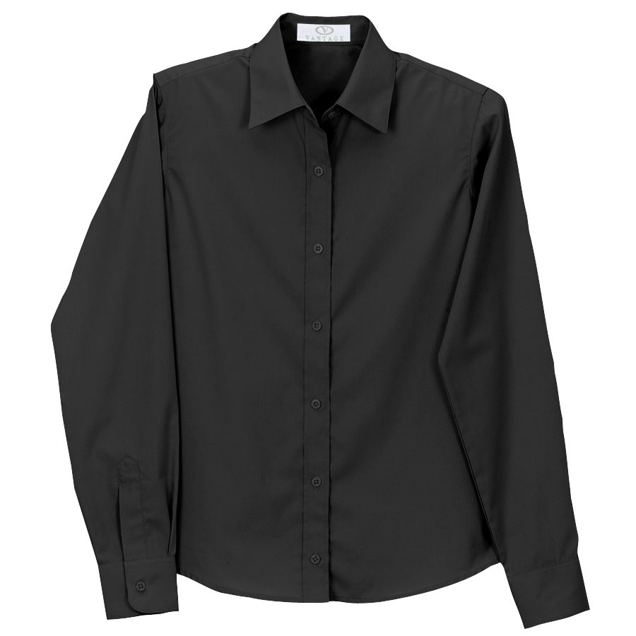 Women's Blended Poplin Shirt - Women's Blended Poplin Shirt