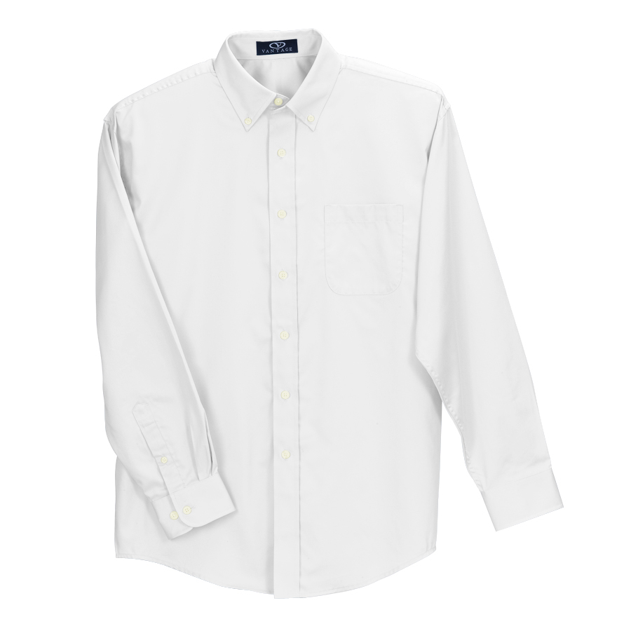 Easy-Care Solid Textured Shirt - Easy-Care Solid Textured Shirt