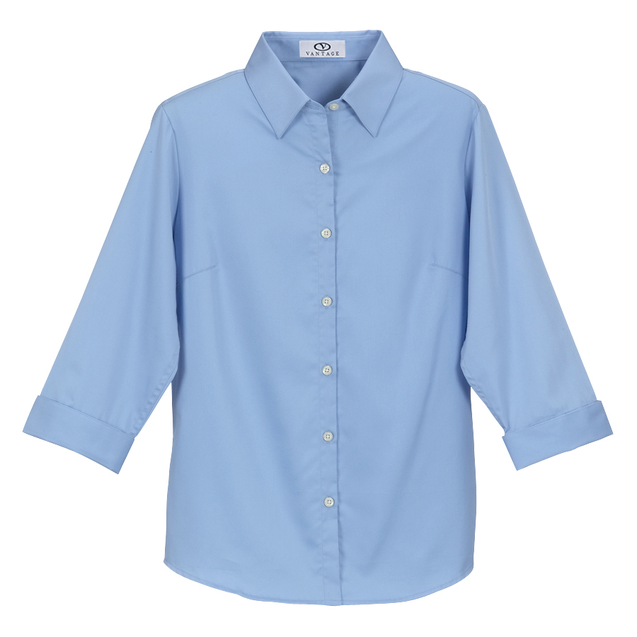 Women's Easy-Care Solid Textured Shirt - Women's Easy-Care Solid Textured Shirt