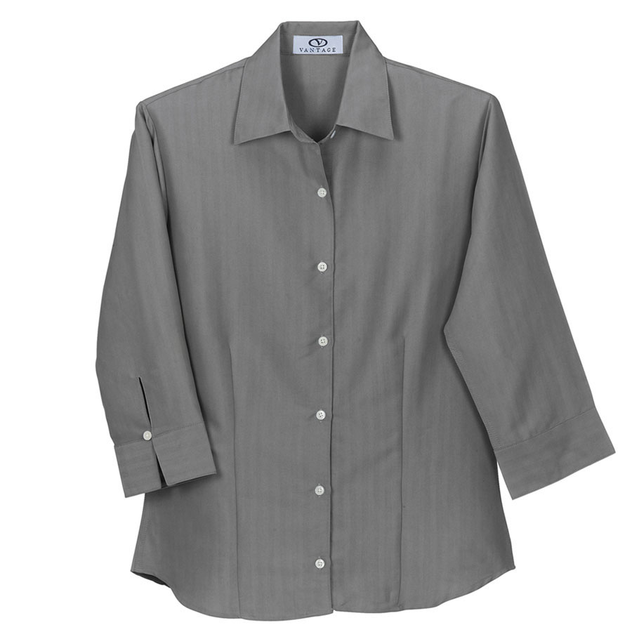 Women's Polynosic Herringbone 3/4-Sleeve Shirt - Women's Polynosic Shirt