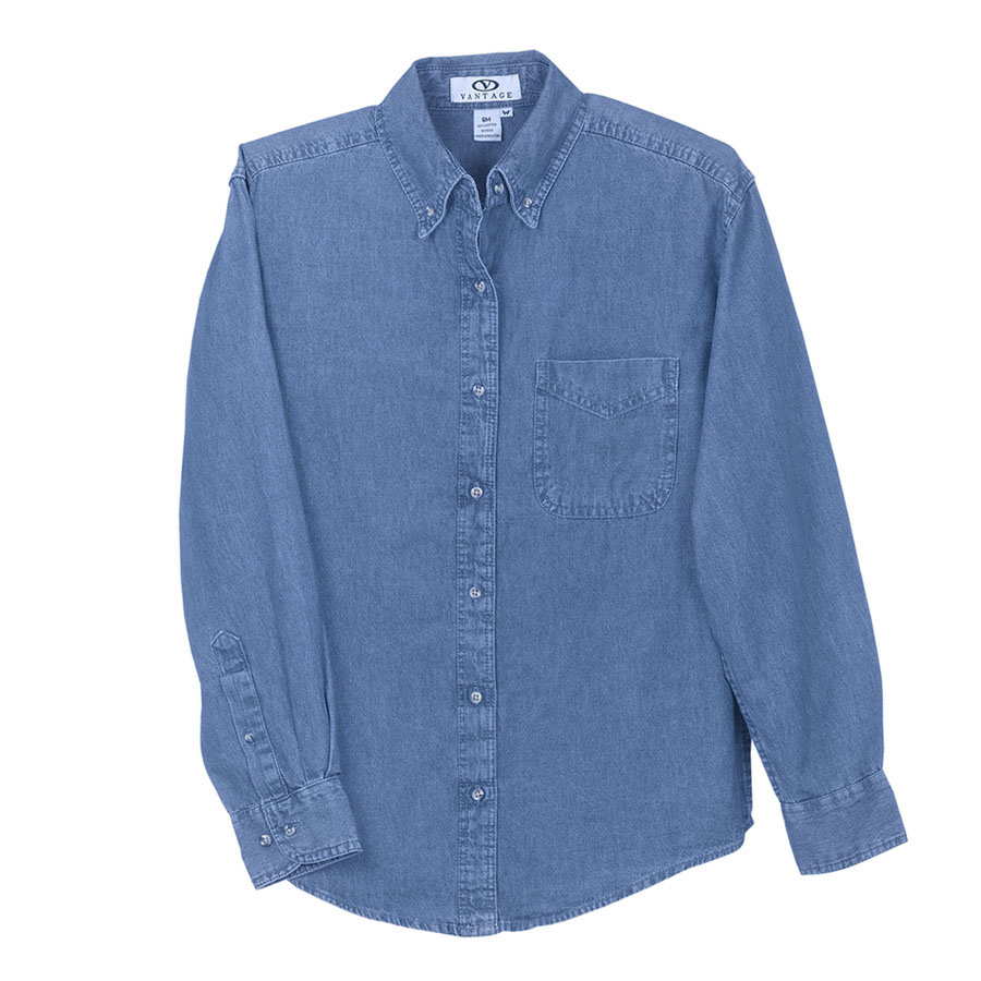 Womens Woodbridge Denim Shirt - Womens Woodbridge Denim Shirt
