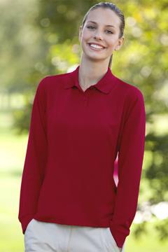 Women's Vansport? Omega Long Sleeve Solid Mesh Tech Polo - Women's Vansport? Long Sleeve Tech Polo