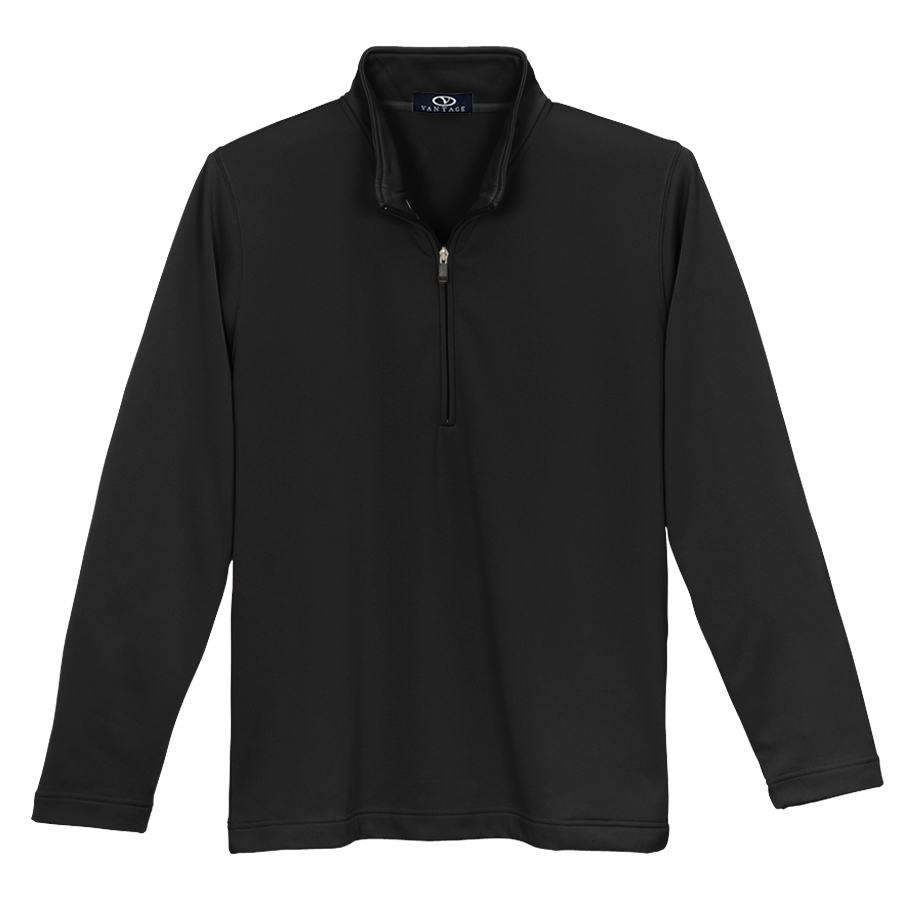 1/4 Zip Brushed Back Micro-Fleece Pullover - 1/4 Zip Micro-Fleece Pullover