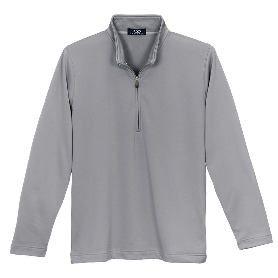 1/4 Zip Brushed Back Micro-Fleece Pullover - 1/4 Zip Micro-Fleece Pullover