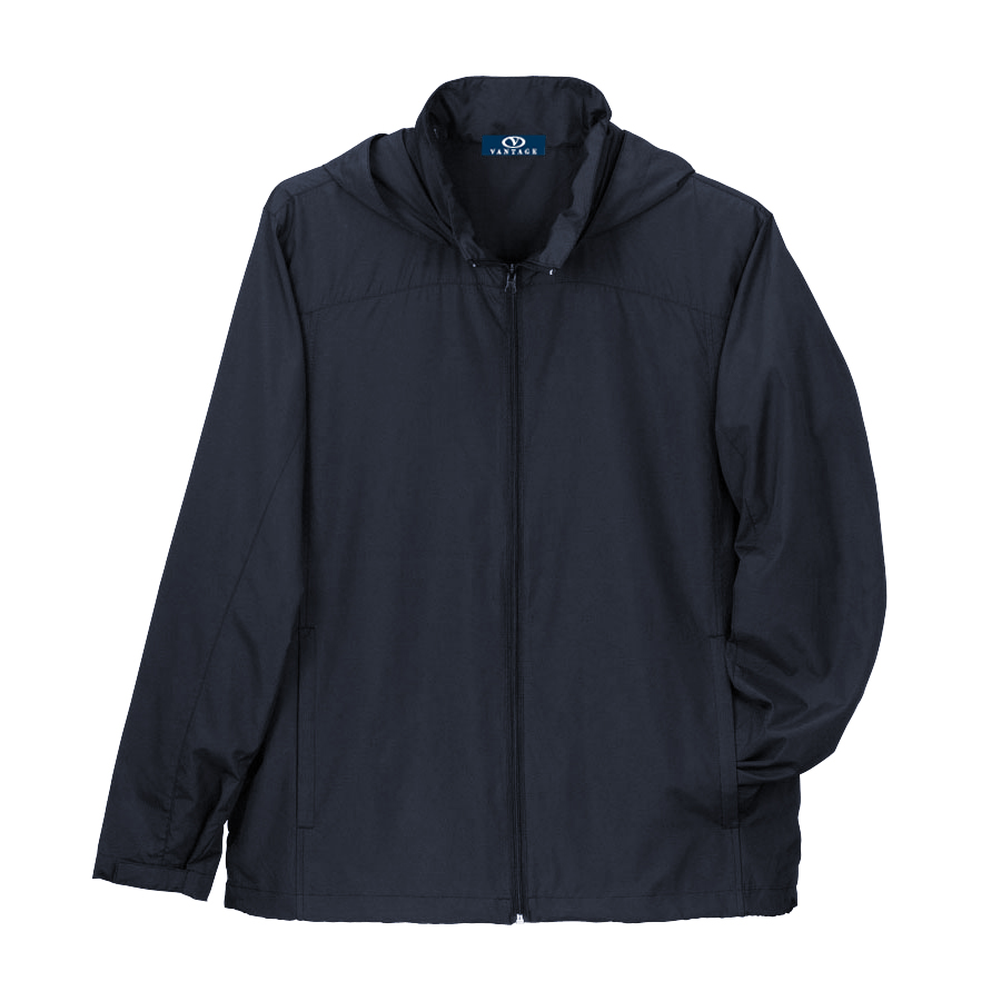 Full-Zip Lightweight Hooded Jacket - Full-Zip Lightweight Hooded Jacket