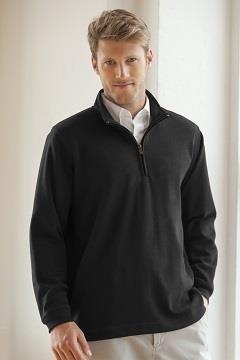 ¼-Zip Flat-Back Rib Pullover - ¼-Zip Flat-Back Rib Pullover